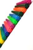Mycket färgrika pennor Royaltyfri Fotografi