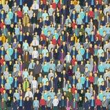Mycket folk, färgrik textur Bakgrund från folkmassan stock illustrationer