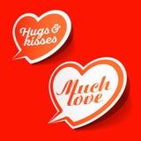 Mycket förälskelse och kramar & kyssanförande bubblar Royaltyfri Bild