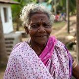 Mycket gammal södra indisk kvinna Arkivbilder