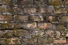 Mycket gammal tegelstenvägg Fotografering för Bildbyråer
