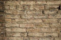 Mycket gammal tegelstenvägg 001 Arkivbild