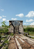 Mycket gammalt övergett järnvägspår Arkivfoton