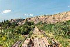 Mycket gammalt övergett järnvägspår Royaltyfria Bilder