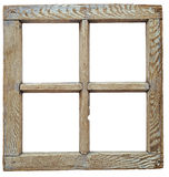 Mycket gammalt grunged träfönster royaltyfri fotografi