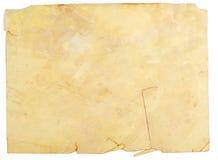 Mycket gammalt papper med brända kanter Arkivbild