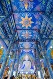 Mycket härlig buddha bild i kapellet av Wat Rong Sua Ten eller Royaltyfria Bilder
