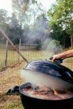 Mycket kött på BBQEN Royaltyfria Bilder