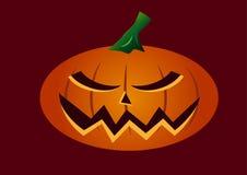 Mycket läskig halloween pumpaframsida vektor illustrationer
