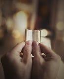 Mycket liten bibel Fotografering för Bildbyråer