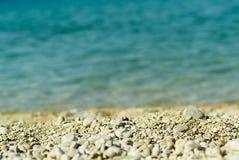 mycket liten strandsten Fotografering för Bildbyråer