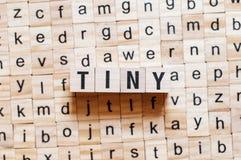 Mycket litet ordbegrepp arkivfoto