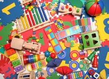 Mycket många leksaker Arkivbild