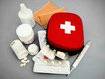 mycket mediciner Fotografering för Bildbyråer
