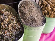 Mycket moroccan krydda Royaltyfria Foton