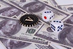 mycket pengar Ett pris i en kasino cache Arkivfoto