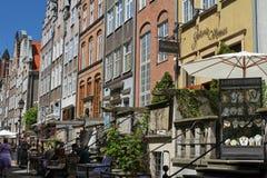 Mycket populär och charmig Mariacka gata - gata i Gdansk, Polen Royaltyfria Bilder