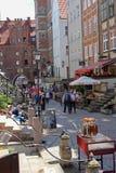 Mycket populär och charmig Mariacka gata - gata i Gdansk, Polen Arkivfoton