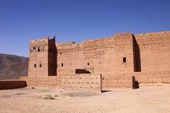 Mycket populära filmskapare som rekonstruerar kasbahen Ait - Benhaddou, Marocko Royaltyfri Foto