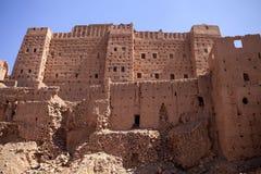 Mycket populära filmskapare som rekonstruerar kasbahen Ait - Benhaddou, Marocko Royaltyfria Bilder