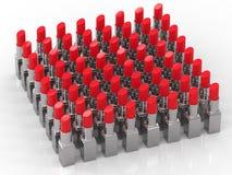 Mycket röda läppstift stock illustrationer