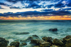 Mycket saftig solnedgång Royaltyfri Bild