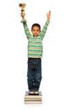 Mycket smart svart pojke Royaltyfri Foto