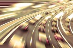 Mycket snabba bilar i framtid Fotografering för Bildbyråer