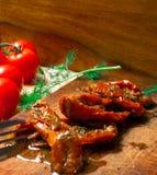 mycket sol torkade tomater Arkivfoto