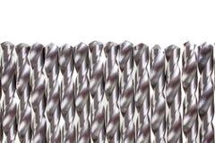 Mycket spirala isolerade drillborrbitar Drills använde i industriella reparations- och konstruktionsaktiviteter Royaltyfria Bilder