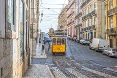 Mycket touristic ställe i i stadens centrum Lissabon, Europa Arkivbild