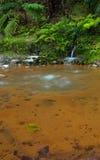 Mycket varm vulkanisk vattenfall Arkivbilder