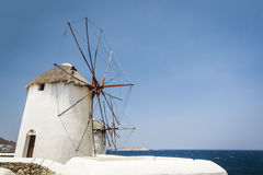 Myconos wind mill Royalty Free Stock Image