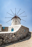 Myconos wind mill Royalty Free Stock Photo