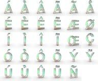 Mydlani kapitałowi listy z diacritics zdjęcie royalty free