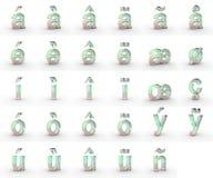 Mydlani mali listy z diacritics ilustracji