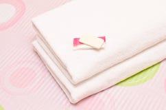 mydlani ręczniki Zdjęcia Royalty Free