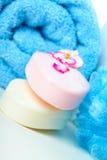 mydlany ręcznik Zdjęcia Royalty Free