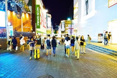 Myeong-dong fashions district at night, Seoul Stock Images
