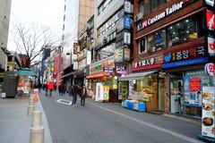 Myeong-dong, SEOEL, ZUID-KOREA Royalty-vrije Stock Fotografie
