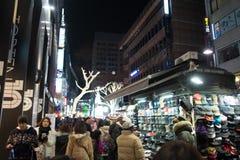 Myeong-dong, SEOEL, ZUID-KOREA Stock Fotografie