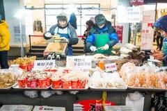 Myeong-dong, SEOEL, ZUID-KOREA Royalty-vrije Stock Foto