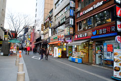 Myeong-Dong, SEOUL, SOUTH KOREA Royalty Free Stock Photography