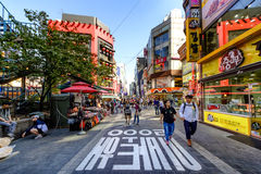 Myeong-Dong shopping street Stock Photography