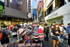 Myeong-Dong shopping street Royalty Free Stock Images