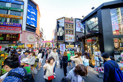 Myeong-Dong shopping street Stock Image