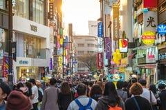 Myeong dong shopping street Seoul South Korea Stock Image