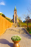 Myeongdong Cathedral Front Steps Plant Seoul Stock Photo