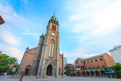 Myeongdong Cathedral on Jun 18, 2017 in Seoul city, South Korea. Landmark Royalty Free Stock Images