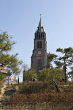 Myeongdong Cathedral. Is a prominent Roman Catholic church in the Myeongdong district of Seoul, South Korea Stock Images